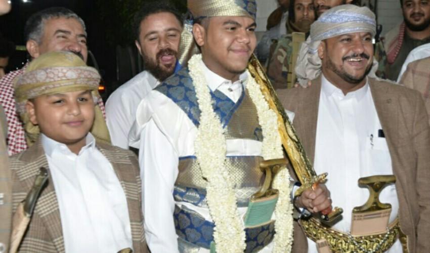 وكيل محافظة الحديدة الشيخ صدام آل راشد يحتفي بزفاف نجله الشاب الخلوق رعد